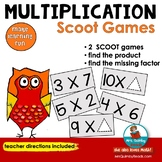 SCOOT! - Multiplication Facts - [Grades 2 and 3]