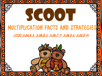 SCOOT - Multiplication Facts & Strategies (Common Core Aligned)