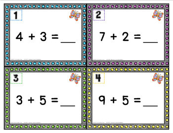 Number Lines and Addition: SCOOT ACTIVITY or TASK CARDS