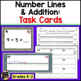 Number Line Addition   Scoot Activity or Task Cards