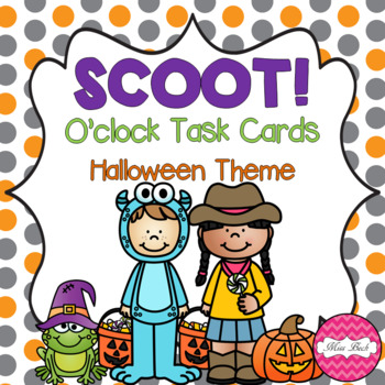 SCOOT! O'clock Task Cards Halloween Theme