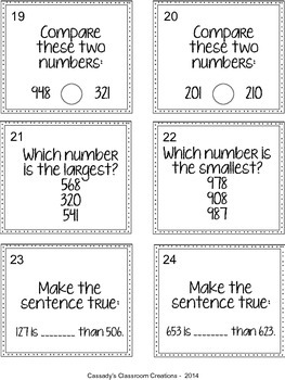 SCOOT Place Value, Comparing Numbers, and Skip Counting Review