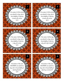 SCOOT - Probability task cards