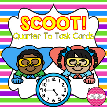 SCOOT! Quarter To Task Cards Superhero Theme