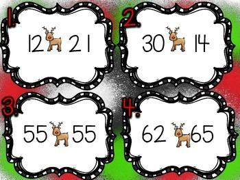 SCOOT Reindeer Comparing 2 Digit Numbers 1.NBT.3