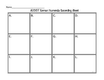 SCOOT-Roman Numerals (1-30) (Core Knowledge)