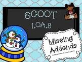 1.OA.8 SCOOT Snowglobe Missing Addends