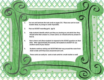 SCOOT! St. Patrick's Day Multiplication and Repeated Addition