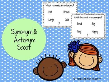 SCOOT Synonym & Antonym, 26 Cards with Answer Key