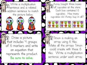 SCOOT - Understanding Multiplication  Arrays (Common Core Aligned)