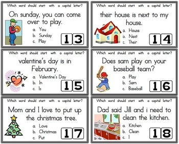 SCOOT!  Using Capital Letters and Rhyming with Long Vowels - 2 Games