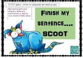 SCOOT activity - Finish my sentence