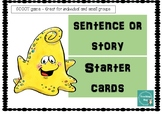 SCOOT or TASK CARD activity -Sentence or Story Starter cards