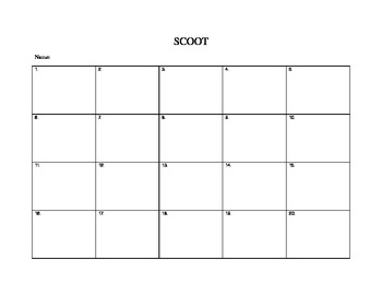 SCOOT student form