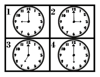SCOOT the Clock (printables)