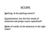 SCOPE- Peer Editing Activity