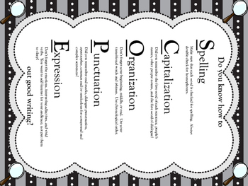 SCOPE out good writing Poster (black):  editing and revisi
