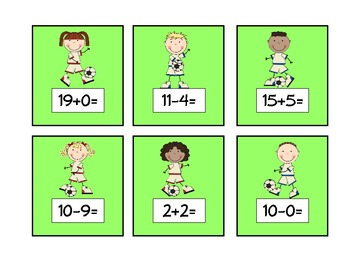 SCORE! An Addition and Subtraction Game: Facts to 20