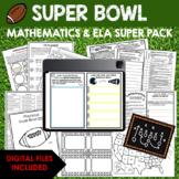 ★SUPER BOWL SUPER BUNDLE Math, ELA, Geography, Science {50 Printables}