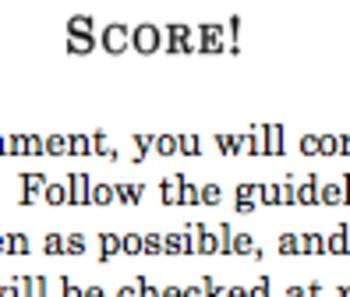SCORE Student-Self Assessment