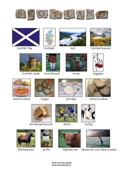 SCOTLAND - VOCABULARY - PICTIONARY