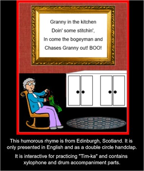 SCOTTISH SONG:  Granny's In The Kitchen (SMARTboard) Hand