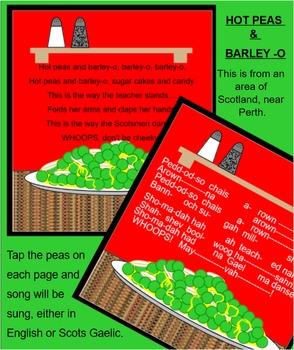 SCOTTISH SONG:  Hot Peas and Barley-O (SMARTboard) Game Song