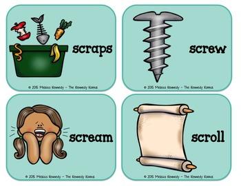 Word Work: Trigraphs - SCR, SQU