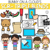 SCR- Three Letter Blends Clipart by Bunny On A Cloud