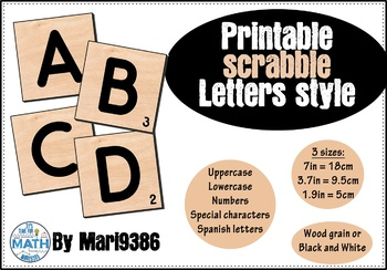 SCRABBLE Letters (Spanish characters included)
