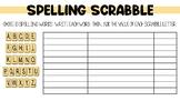 SCRABBLE SPELLING, SCRABBLE WORD WORK, SPELLING ACTIVITIES