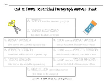 Scrambled Paragraph   Plus: Legend of Groundhog Day by Lessons4Now