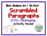 Scrambled Paragraph Writing Activities: CHALLENGING LEVEL