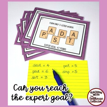 SCRAMBLED WORDS CHALLENGE TASK CARDS - Word Work for Upper Elementary Students