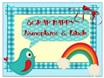 SCRAP HAPPY ~ BIRD THEMED EDITABLE NAMEPLATES AND LABELS