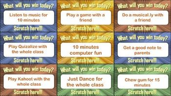 SCRATCH CARDS! REWARD CARDS! Prizes, classroom management - it works!