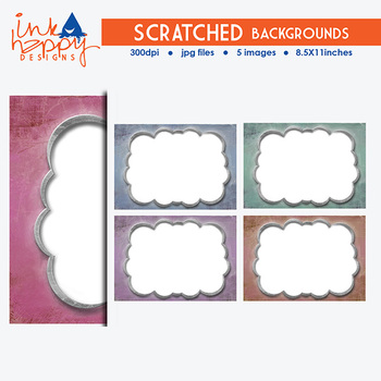 SCRATCHED Backgrounds | clipart