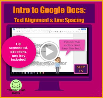 SCREENCAST Intro to Google Docs: Text Alignment and Line Spacing