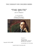 "SCRIPT: Chekhov For Children Series - ""The Brute"" a one-ac"