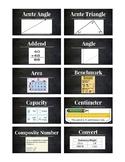 SCReady Math Vocab Cards (4th Grade)