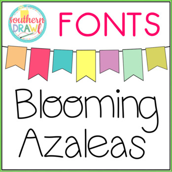 SD Blooming Azaleas Font