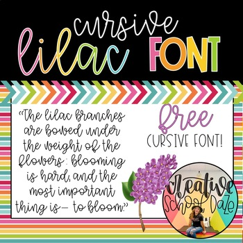 SD- Lilac cursive font by Our Elementary Daze