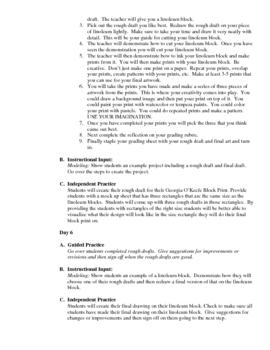 SDAI Block Printing Lesson
