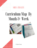 Editable Secondary SDC Curriculum Map Template - By Month