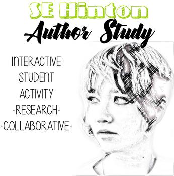 SE Hinton Author Study, The Outsiders Novel Unit, Outsiders Author Bio