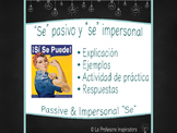 SE pasivo y SE impersonal | Powerpoint on passive and impe