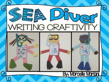 SEA LIFE-SCUBA DIVER ART- CRAFT TEMPLATE- A WRITING-DRAWING CRAFTIVITY