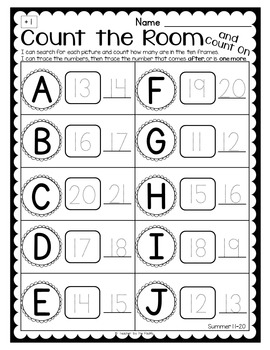 SEA LIFE Math Center: Count the Room and Count On Numbers 1-20 {BUNDLE}