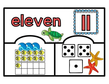 SEA LIFE Math: Number Puzzles 11 – 20 - Ten Frames and Dice