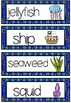 SEA OCEAN theme topic words WORD WALL vocabulary flash cards